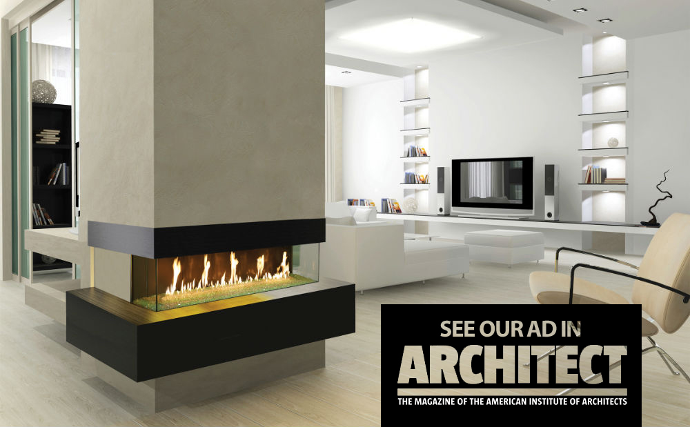 DaVinci Custom Linear Fireplaces Homepage Image