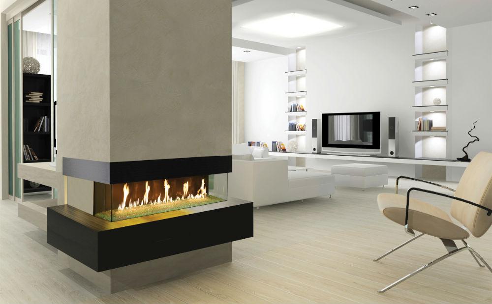 DaVinci Custom Linear Fireplaces Homepage Image