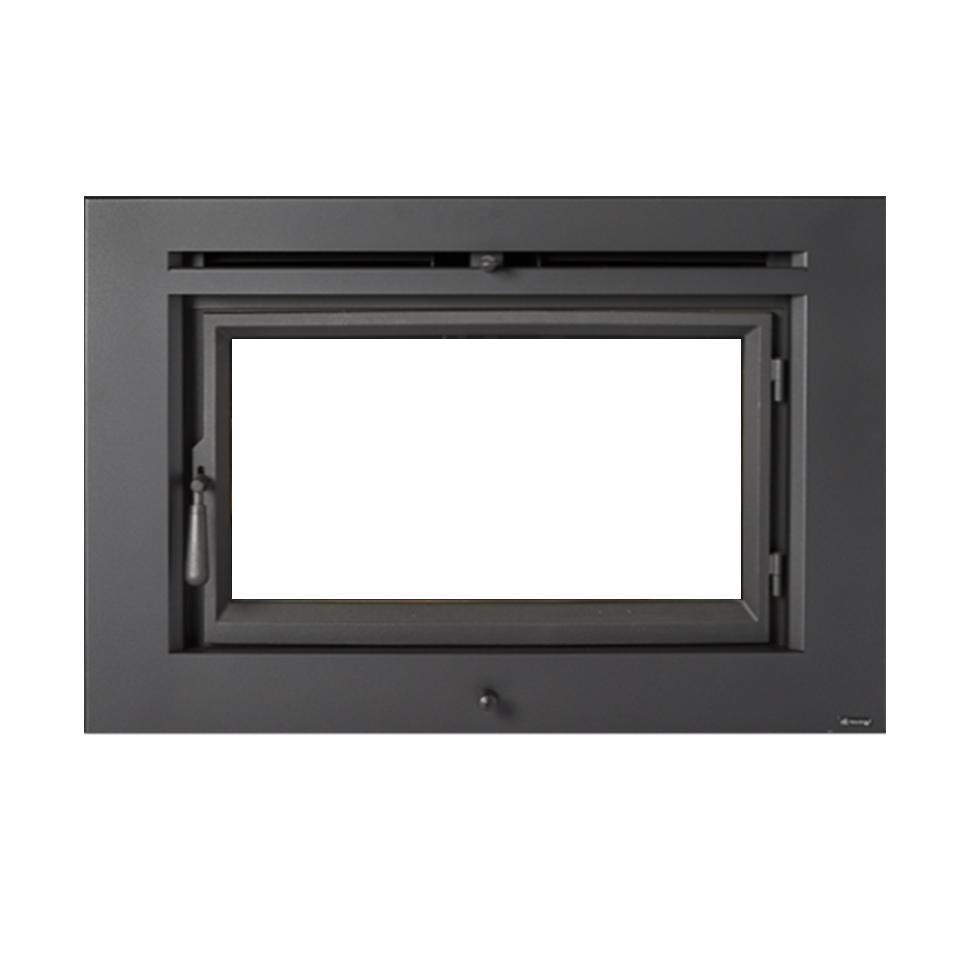 flush wood plus rectangular fireplace xtrordinair